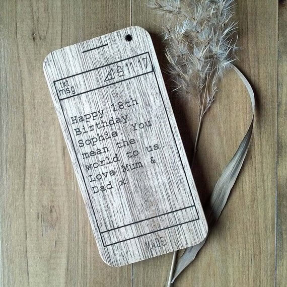 Wooden homewares - Phone from Manual Arts DEpt