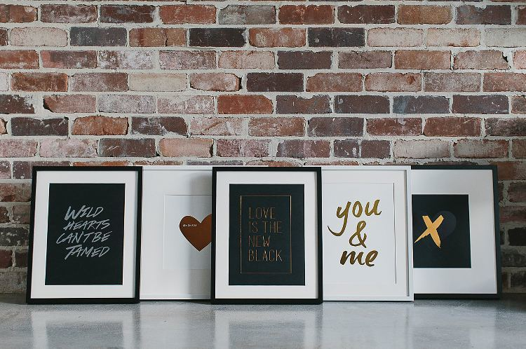 Copper Homewares - Black and Copper Word Art