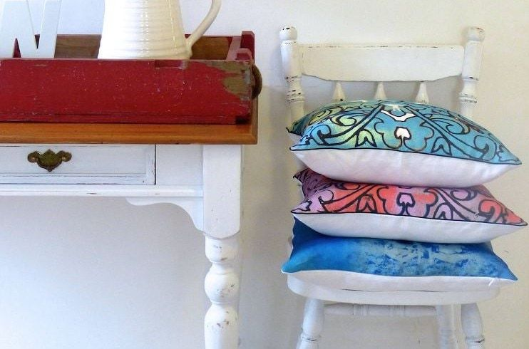 Floral Cushions by Vanilla Slate Design