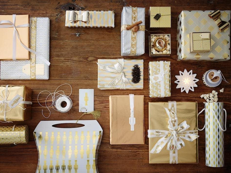 IKEA Christmas 2014 - Gold and White Gift Wrap