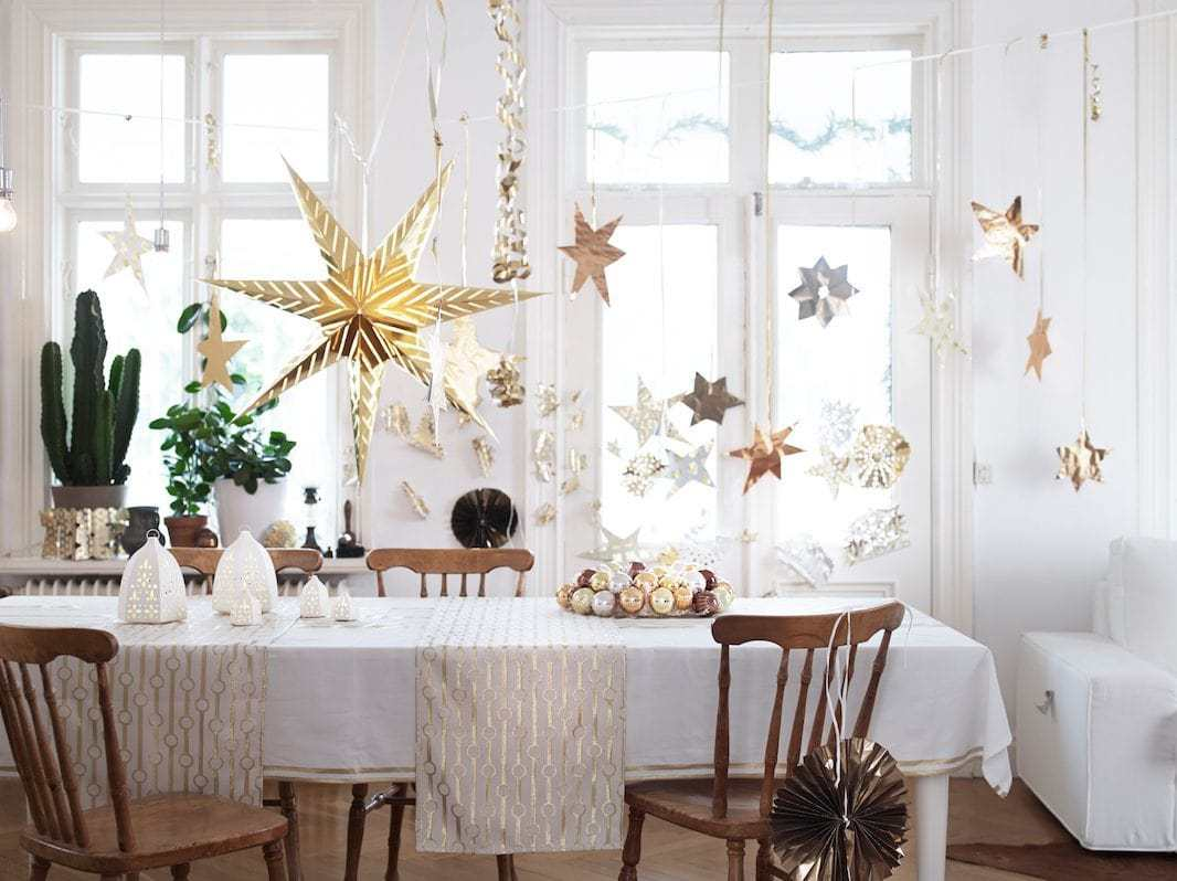 IKEA Christmas 2014 - Gold and White Table Setting