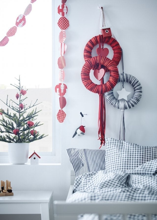 IKEA Christmas 2014 - Red and White Christmas Decorations