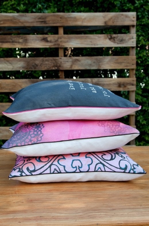 Vanilla Slate Designs - Pink and Blue Cushions