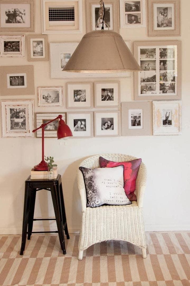 White and Red Cushion Design - Vanilla Slate Design