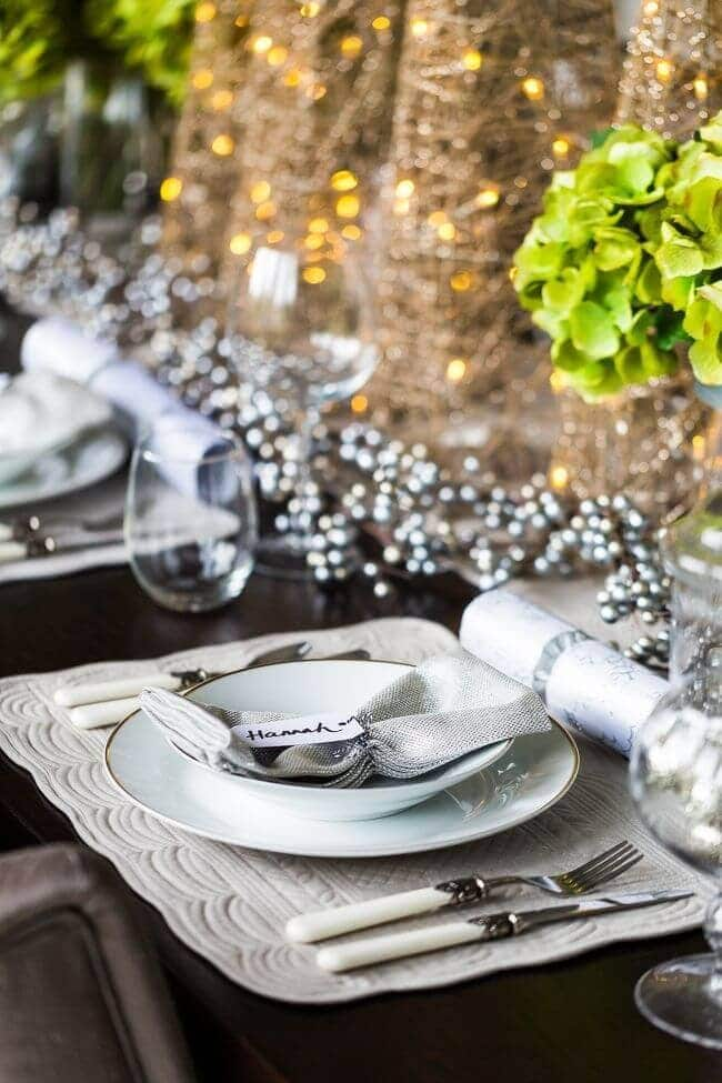 Christmas Table Settings - French Ornate