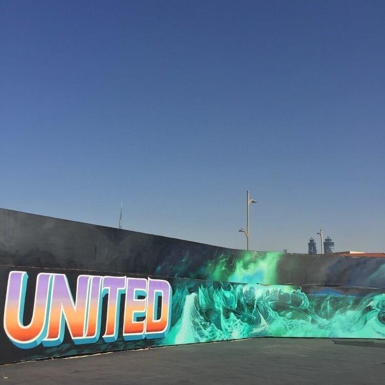 Dubai Graffiti - Longest Graffiti Wall in the World