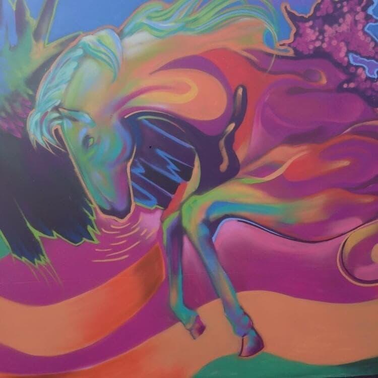 Graffiti Wall in Dubai - Horse Art