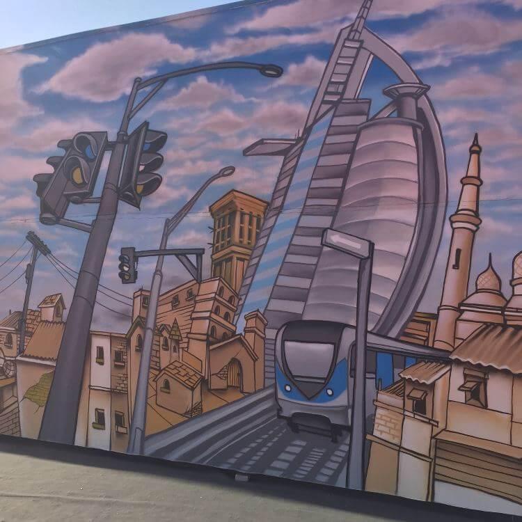 Longest Graffiti Wall in the world - Dubai