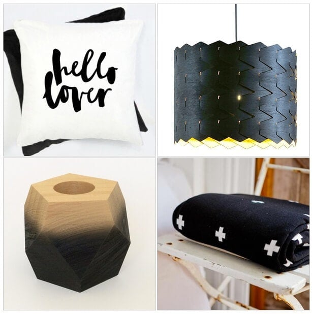 Monochrome Homewares from Jasper and Eve