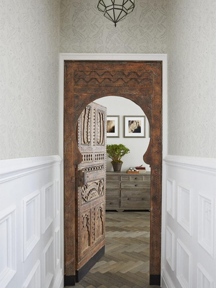 Genevieve Gorder's New York Apartment - Moroccan Bedroom Door