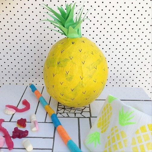 Party Ideas - DIY Pinata - Pineapple