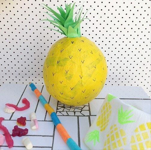 Party Ideas - DIY Pinata - Pineapple