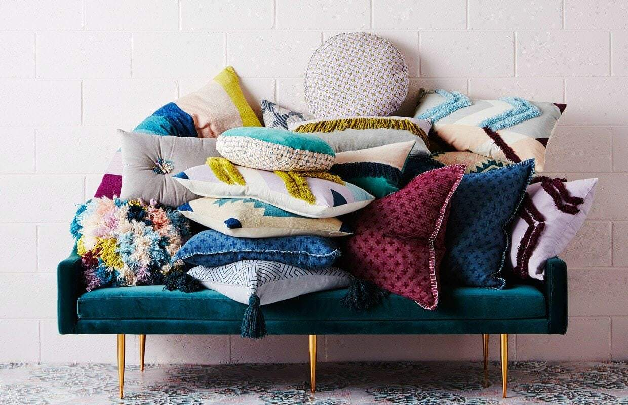 Sage and Clare cushions on TLC Interiors