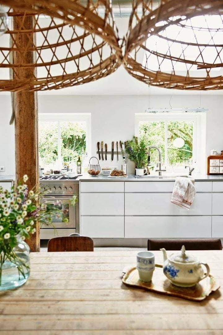Country Kitchen Design - Rustic Dining Table