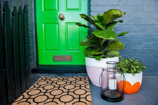 Front Garden Ideas - Bright Green Door