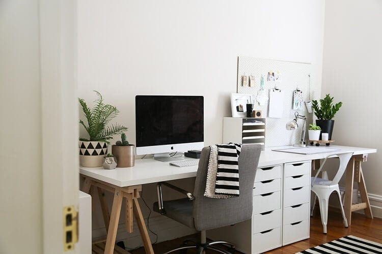 Scandi Home Office Design Ideas - Tressel Table