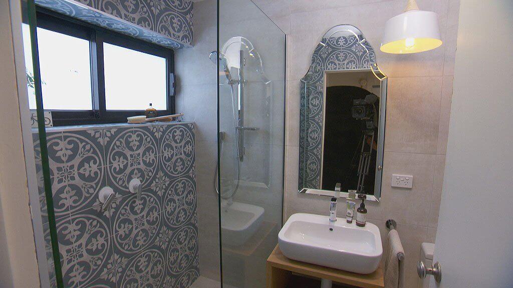 The Block Bathroom Reveals - Moroccan Bathroom