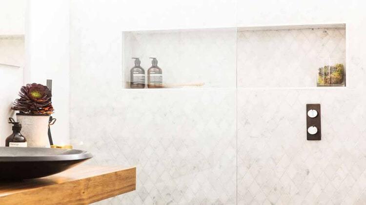 The Block Bathroom Reveals - Tim And Anastasia