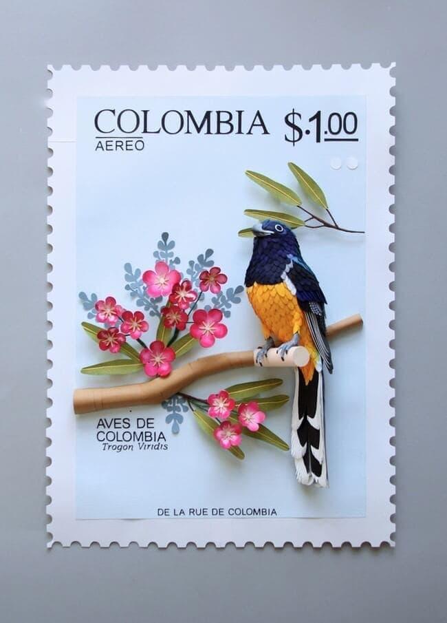 Bird Stamps by Diana Beltran Herrera