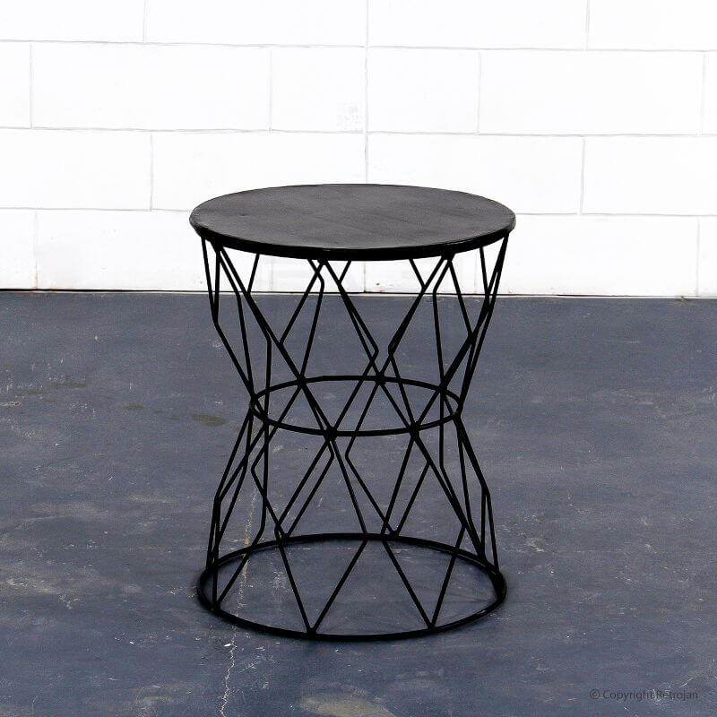 Black Metallic Side Table from Retrojan