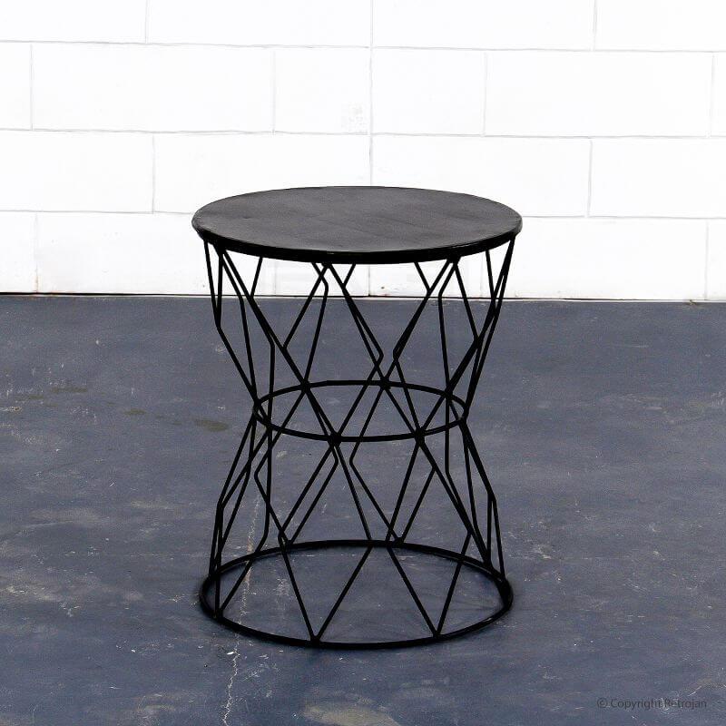 Black Metallic Side Table from Retrojan