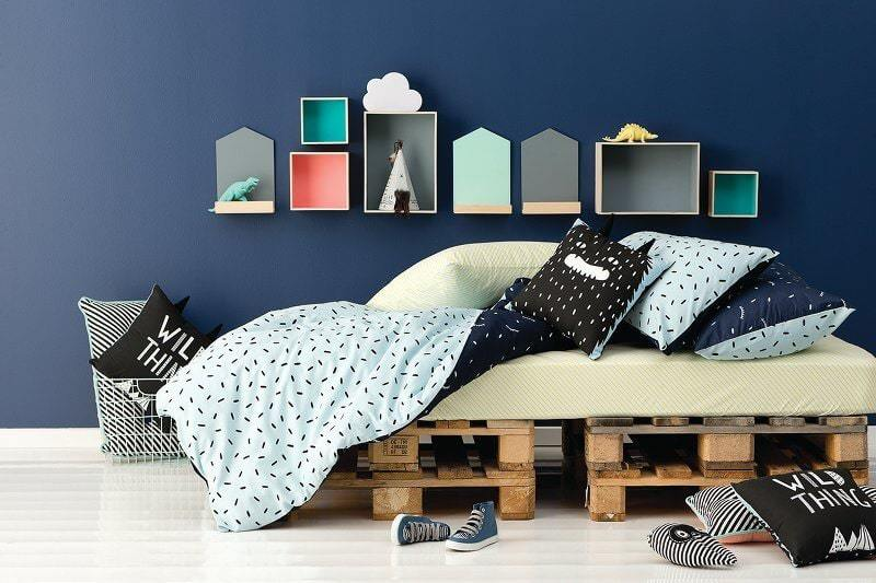 Cotton On Kids Bedding for Autumn - Green and Blue Colour Story