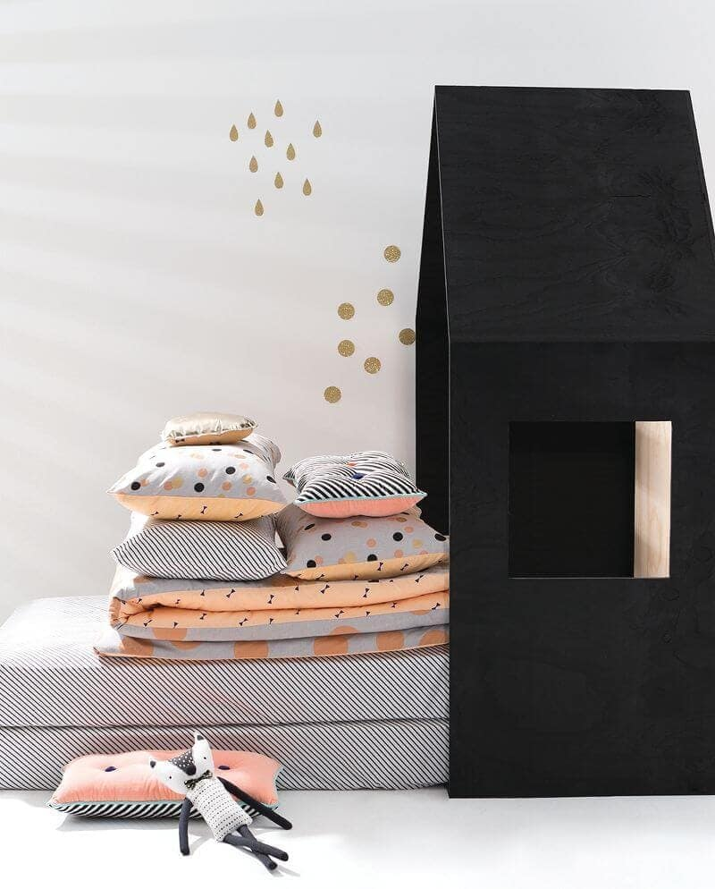 Cotton on Kids Autumn bedding - coral and metallic