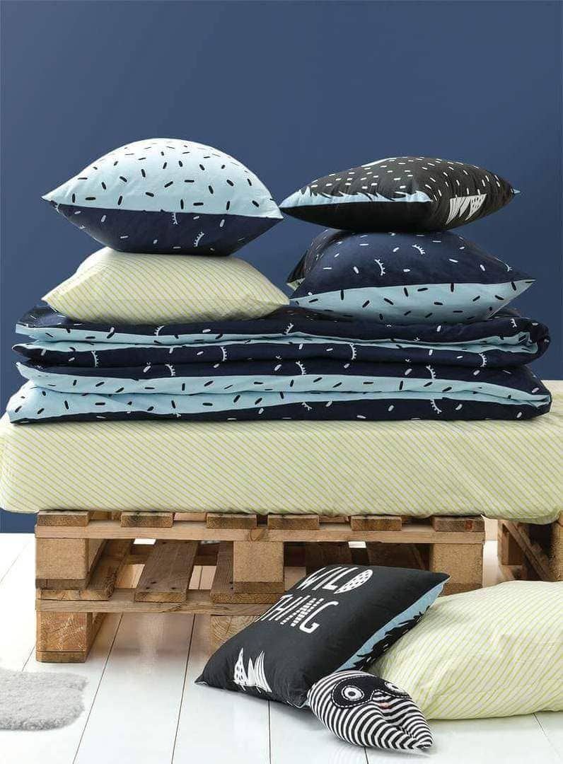 Cotton on Kids bedding for Autumn - Blue and Green