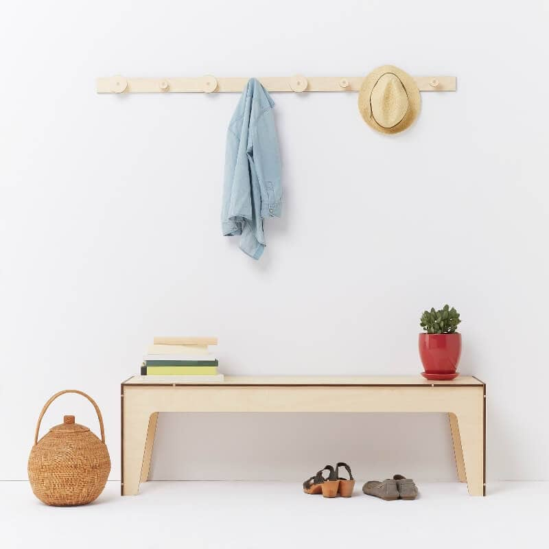 Designer Furniture from Playwood - Bench and Hangers