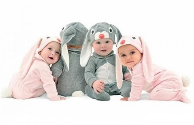 Easter gift ideas - baby rabbit jumpsuit