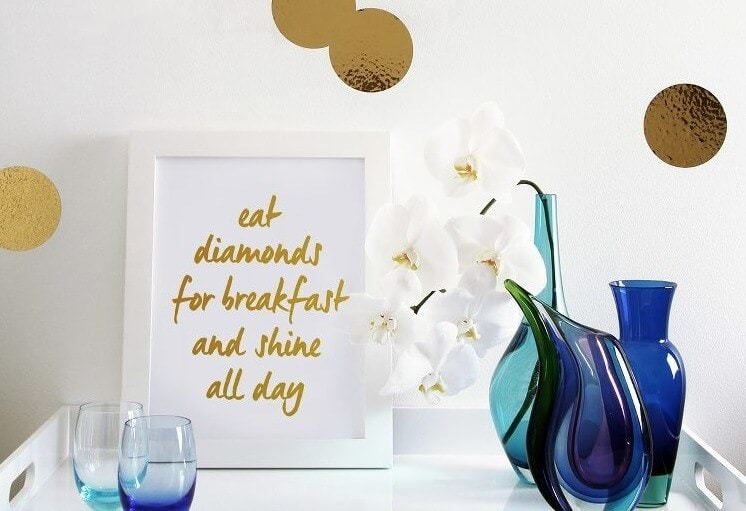 Eat Diamonds for Breakfast print