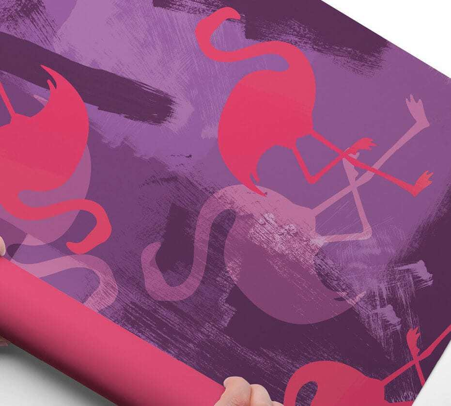 Flamingo Wrapping Paper from Colour and Chaos