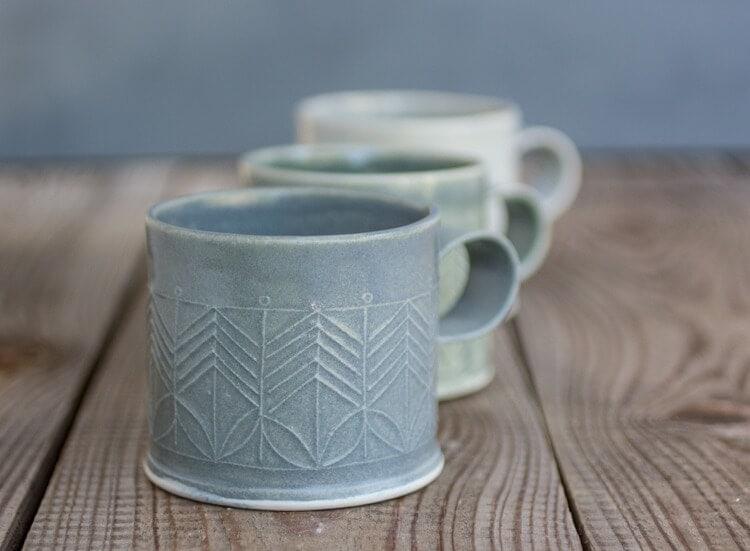 Free Folding Porcelain Mug on Etsy- Winter Decorating 2015