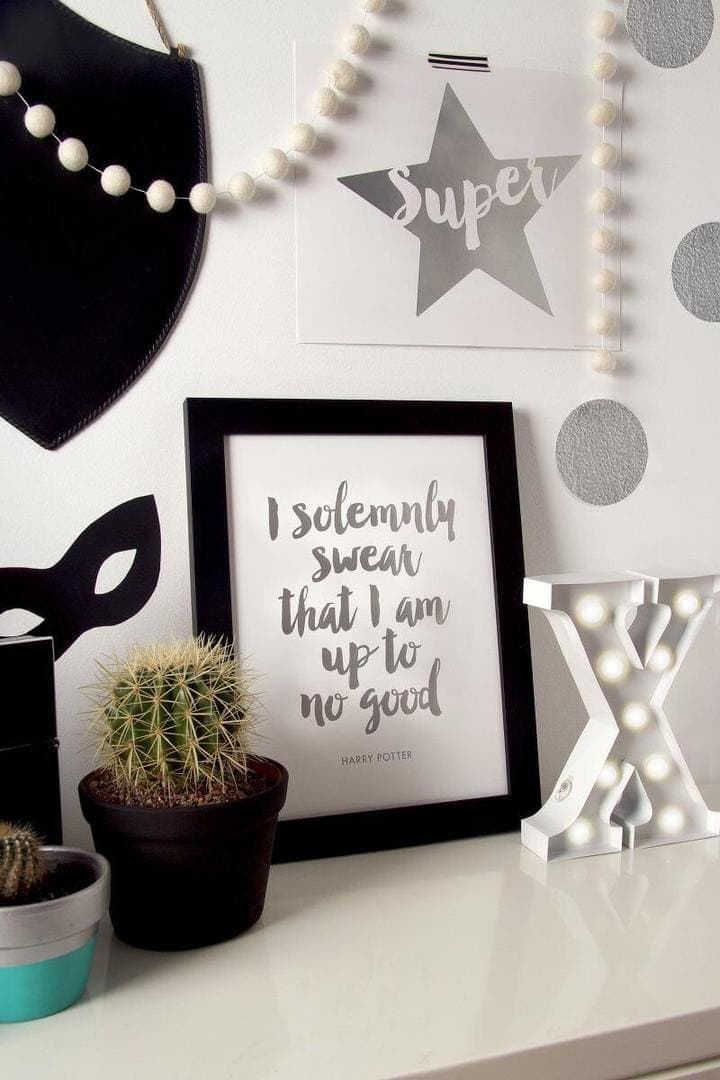I Solemnly Swear Print by Paper D'Amour