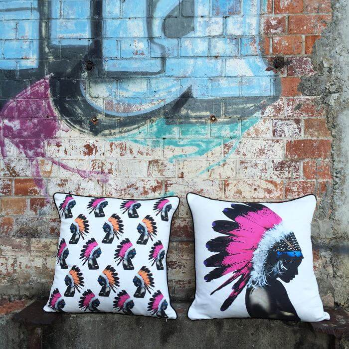 Matt Stewart Art on Cushions