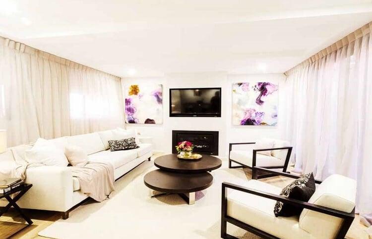 The Block Triple Threat - Tim and Anastasia Living Room