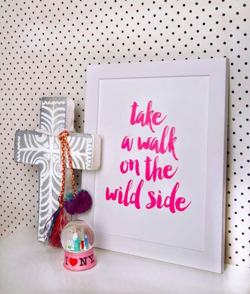 Walk on the Wilid Side Print by Paper D'Amour