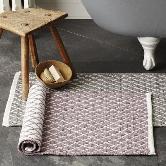 Winter Decorating - Bath Mats from West Elm