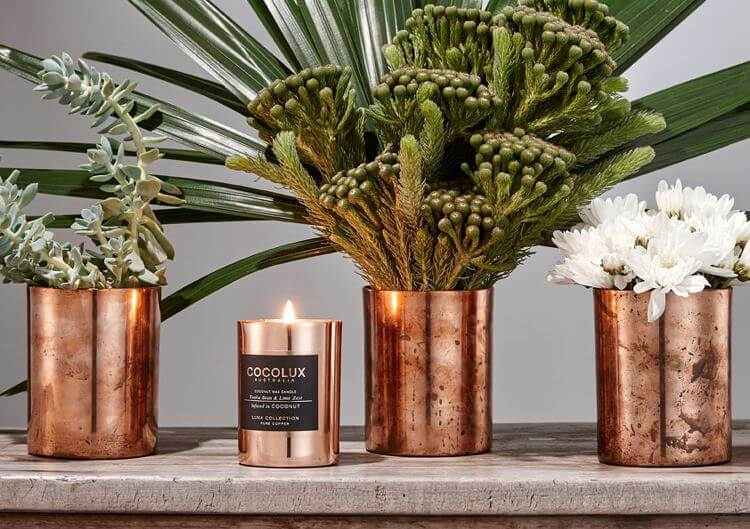 Cocolux - New Candle Rangw in Copper Casing