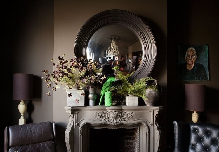 Inside Abigail Ahern's Apartment - Living Room Mantle