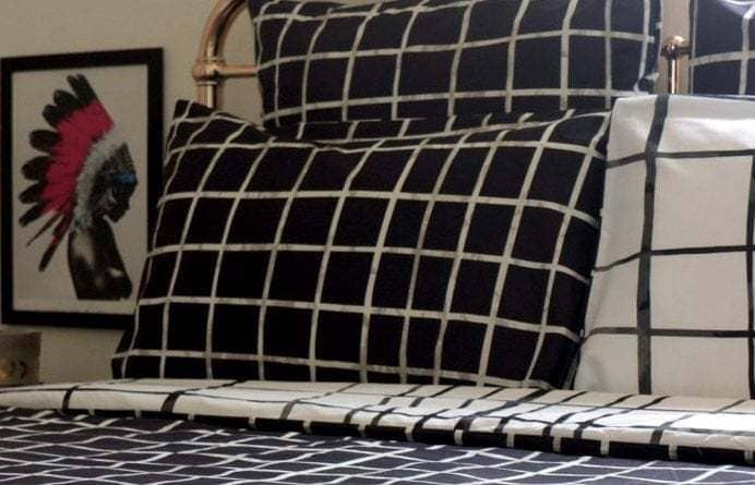 Monochrome bedroom - bedroom ideas - KAS bedding