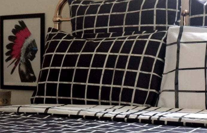 Monochrome bedroom - bedroom ideas - KAS bedding