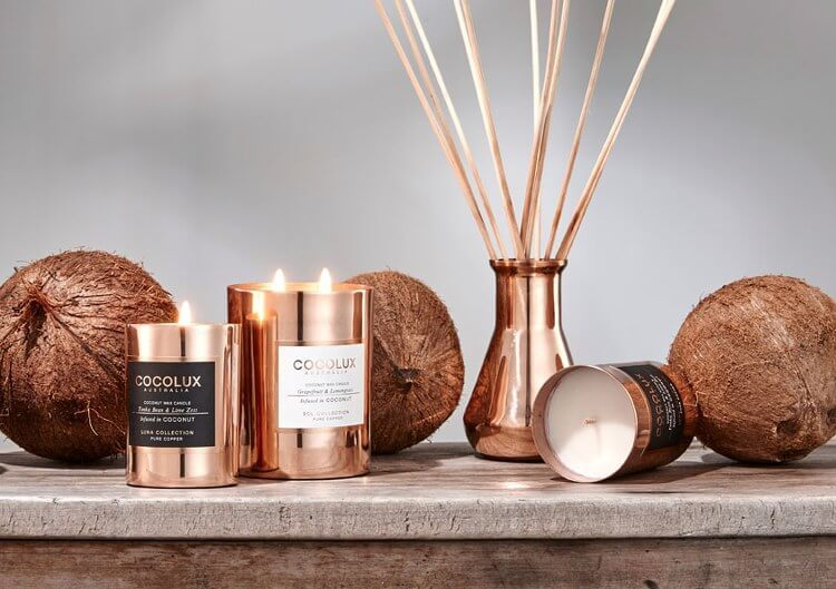 New Copper Candle range from Cocolux