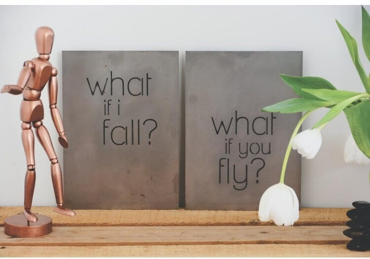 What if I fall Steel Art from Lisa Sarah Designs
