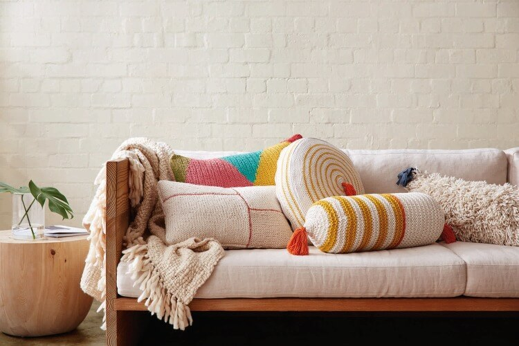 Cotton On and Mark Tuckey - Knitted  Cushions and Throws