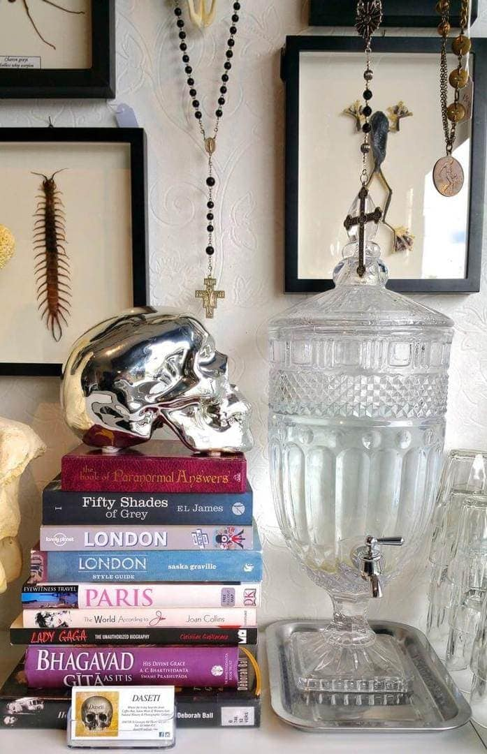 Daseti Cafe in Thornbury - Silver Skull and Book Styling