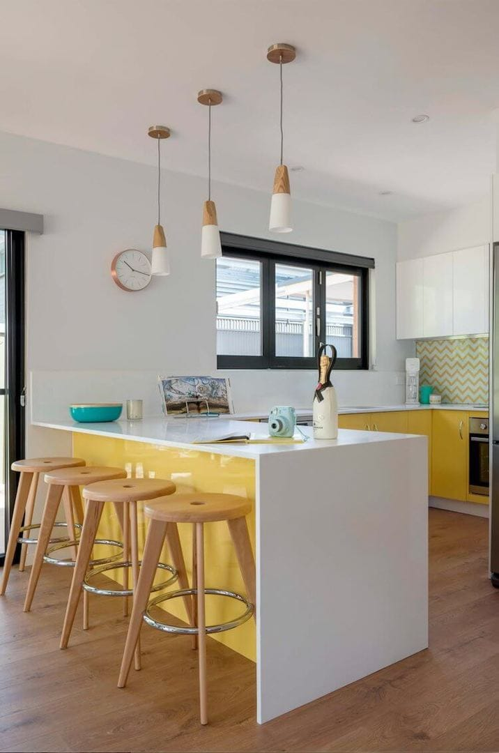 House Rules Reveal - Adeliade - Yellow Kitchen