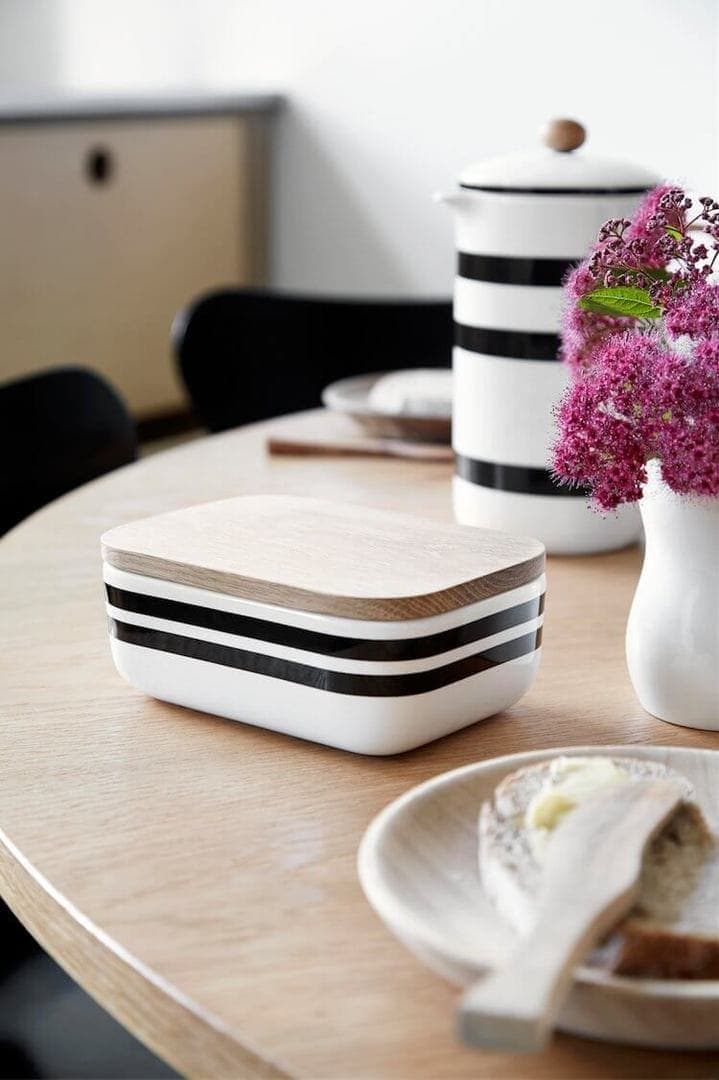 Kahler Scandinavian Design and Decor - Striped Butter Box