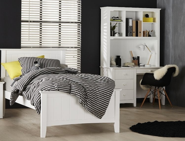 Monochrome Bedroom Ideas from Forty Winks - Add Yellow