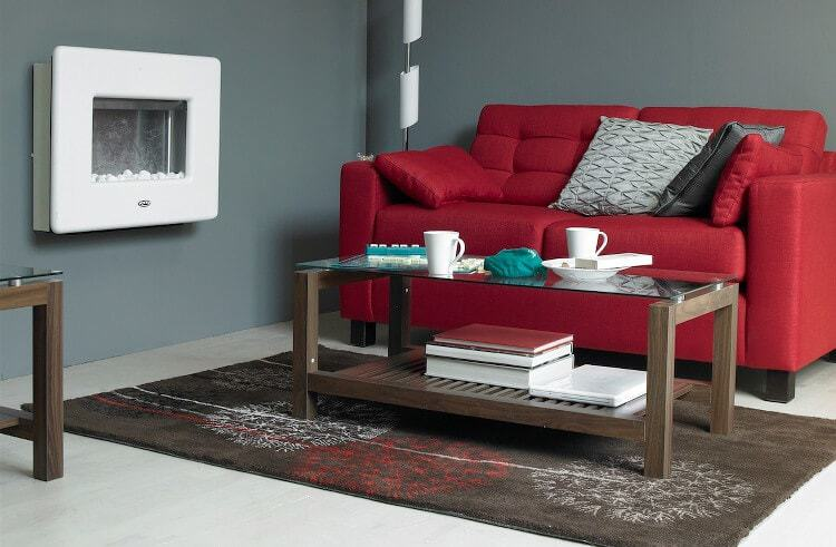 Red and Grey Living Room Design